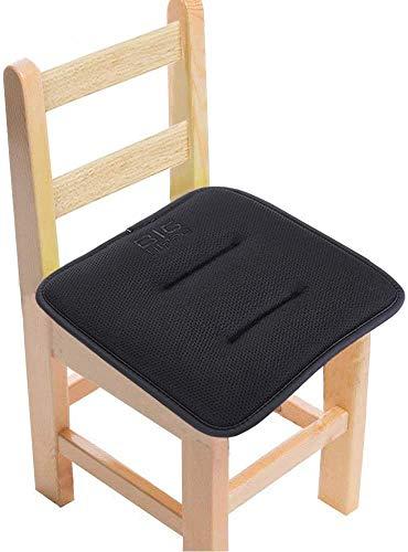 Big Hippo Stuhlkissen mit Bänder, Kindersitz Sitzkissen aus Sandwich Mesh-Stoff, Memory Schaum Sitzkissen Baby Stuhl Auflage Sitzpolster für Kleine Stühle zuhause, Küche, Büro - 30 x 30 cm