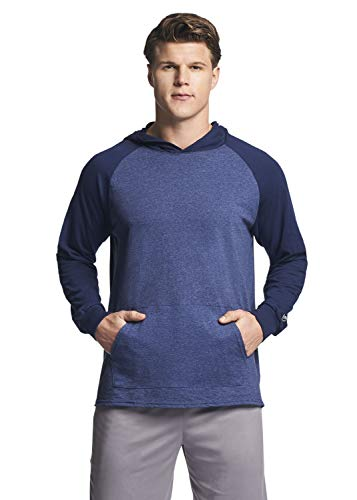 Russell Athletic Men's Lightweight Essential Cotton Hoodie, Vintage Navy/Navy, Large