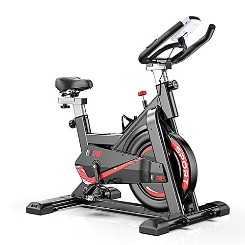 Bicicleta estática estática - Bicicleta de ciclismo interior con soporte para tableta y monitor LCD para entrenamiento en casa, diseño silencioso, capacidad de peso de 350 libras