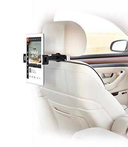 Soporte de Coche para iPad, Soporte para reposacabezas de Coche con rotación de 360 Grados para iPad Air/Pro, Superficie, Samsung Galaxy y más Tablet PC de 4.7'-12.9' Pulgadas - IBRA