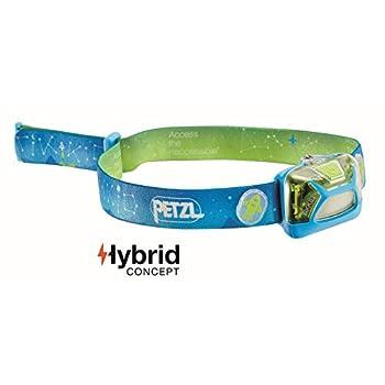 PETZL TIKKID Lampe Frontale Mixte Adulte, Bleu, Taille Unique & NOCTILIGHT - étuis pour équipements (Petzl, TIKKINA, TIKKA, ZIPKA, ACTIK, ACTIK CORE, REACTIK, REACTIK +, 85 g), Noir/Orange