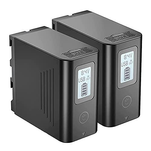 NP-F970 NP-F 980, JYJPB 2X 7800mAh Batería de Repuesto con LCD y USB Salida NPF Baterías para Sony Dispositivos, con Función de Power Bank