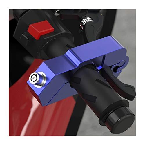 XIAO-XIN Manillar de la Motocicleta Bloqueo de Acelerador Seguridad Seguridad Seguridad Cerraduras Levantamiento de la Palanca de Freno Cierre de Disco Fit Scooter ATV Anti-TheftExplosion-Prueba