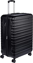 commercial Amazon Basics Hard Side Spinner Case – Expandable with Wheels – 30 Inches, Black guess suitcase luggage