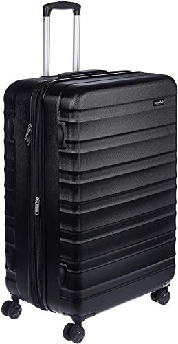 AmazonBasics Hardside Spinner Suitcase Luggage - Expandable with Wheels - 30 Inch, Black