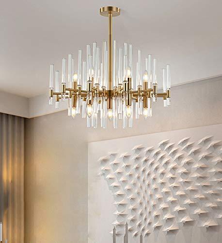 FEE-ZC Moderne Küchenlampen Deckenleuchte Hell Messing, Deckenlampe Klarglas Lampenschirm Pendelleuchte E27 Sockel Esszimmer Wohnzimmer Schlafzimmer 110V 220V, B