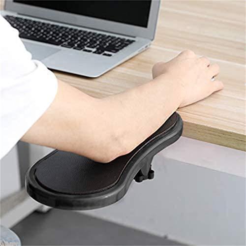 Apoio de braço de Descanso de Pulso ajustável para computador - Mesa e cadeira Suporte de braço de computador acoplável de Uso Duplo para casa e escritório - Tapete de Mouse projetado ergono