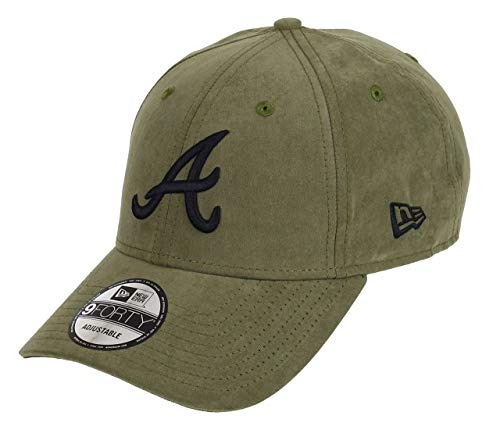 New Era Atlanta Braves New Era 9forty Adjustable Cap League Essential Nylon Green/Black - One-Size