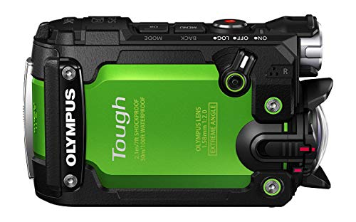 "Olympus TG-Tracker - Cámara de acción de 7.2 MP (Pantalla abatible de 1.5"", GPS, WiFi, estabilizador de 5 Ejes, Video 4K), Color Verde"