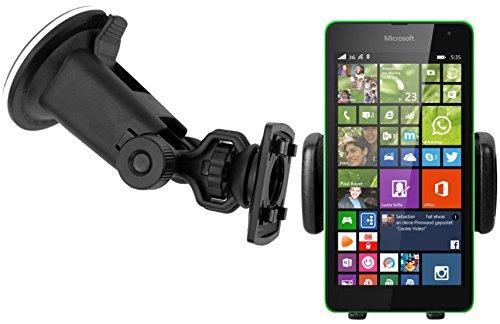 HR Auto Halterung Kompatibel mit Nokia 3, 5, 6 Dual SIM und Nokia 3, 5, 6 Single SIM, Microsoft Lumia 640 - Microsoft Lumia 640 XL - Microsoft Lumia 640 Dual SIM KFZ Autohalterung Auto Halter Holder