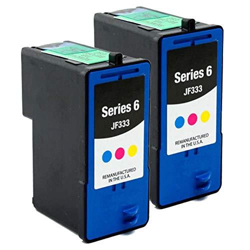 Karl Aiken - Cartucho de tinta Tri-Color, compatible con Dell 6 JF333 para impresora 725 810 (2 x 3 colores)