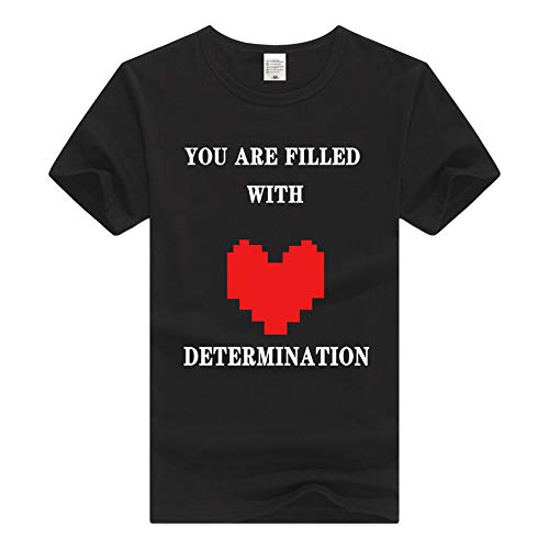 Undertale Camiseta Blusas de Verano con Cuello Redondo, Manga Corta, Camiseta Fresca, Camiseta de Ocio