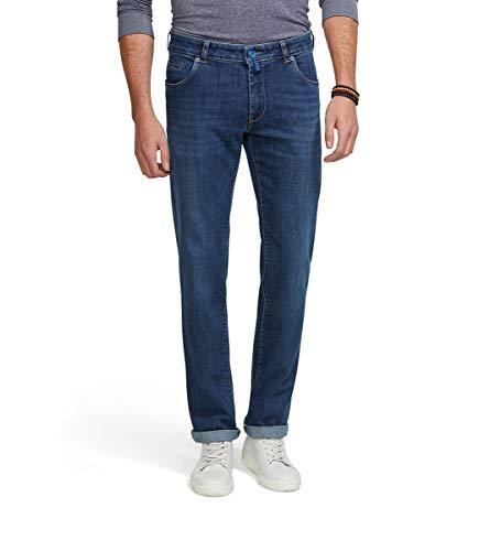 MEYER Pantalones de los Hombres M5 Regular Denim - 9-6209 Stone-Blue - Denim Stretch Fairtrade