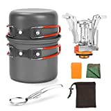 ZIYEWAN Barbecue tool set Camping Cooking Set with Mini Stove, Outdoor Cook Equipment for 1-2 Persons <span class='highlight'>Non</span> <span class='highlight'>Stick</span> Aluminum <span class='highlight'>Durable</span> Pot Pan for Outdoor Picnic Hiking <span class='highlight'>BBQ</span>