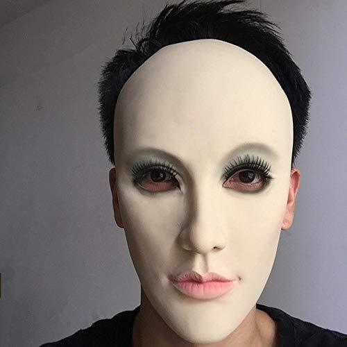 Latex realistische vrouwelijke masker Latex zonnebrandcrème realistische menselijke huid bedekt masker Maskerade maskers transgender half