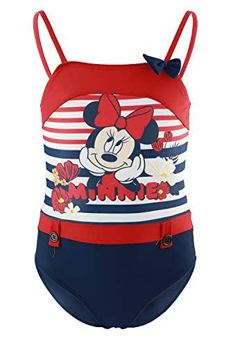 Characters Cartoons Disney Minnie - Bambino - Costume da Bagno Intero 1 Pezzo Mare Piscina - Prodotto Originale Licenza Ufficiale [1864 Blu - 8 Anni]
