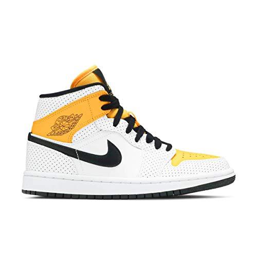 Nike Wmns Air Jordan 1 Mid, Scarpe da Basket Donna, White/Black-Univ Gold, 42 EU