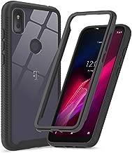 T-Mobile Revvl 4 Case, TCL Revvl 4 Case (Not Fit Revvl 4+), LeYi Full-Body Protective Hybrid Shockproof Bumper Anti-Scratch Clear Phone Cover Cases for Revvl 4, Black
