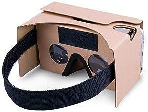 شیشه های واقعیت مجازی Google Cardboard ، VR Headsets Vbox Headsets 3D Box با لنزهای نوری بزرگ 3D روشن و تسمه راحت برای همه گوشی های 3-6 اینچی (زرد ، 1 بسته)