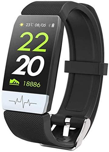 Pulsera inteligente ECG+PPG Fitness Tracker frecuencia cardíaca presión arterial IP67 impermeable previsión meteorológica deportes Smart Band Watch