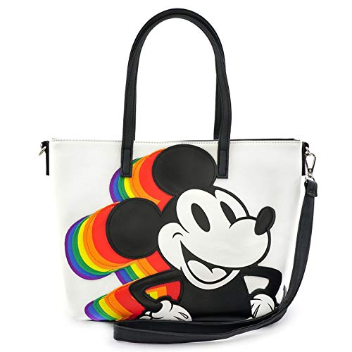 Loungefly x Disney Rainbow Mickey Mouse Convertible Handbag, Multicolored, One Size
