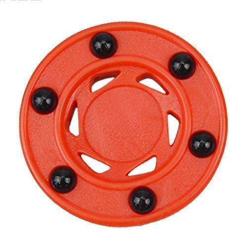 LYXMY Rollhockey-Puck Übungsrolle, Orange, langlebig, professionelles ABS, perfekt balanciert, Anti-Roll, hohe Dichte, Zubehör rund für Ice Inline Street, Wie abgebildet