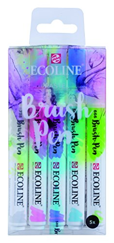 "Talens Ecoline 5 brush pens ""Pastel"""