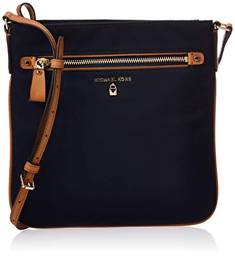 Stylish and versatile for any occasion. Nylon material so it's light and easy to carry. Zipper closure to keep your items secure. Cross body strap with a strap drop of 21 inches. Measures 10 inches in length, 1 inch for width, and 10 inches for heigh...