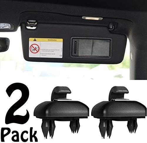 2 Pack Black Interior Sun Visor Hook Clip Bracket for 2013 2016 A1 A3 A4 A5 Q3 Q5 product image