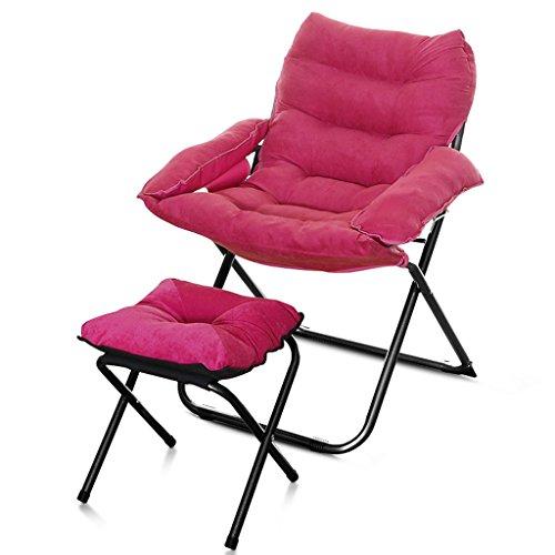 YLLXX Creative Loisirs Chaise Pliante Dortoir Ordinateur Chaise Paresseux Unique Canapé Chaise Maison Chambre Moderne Minimaliste Balcon Inclinable (58 * 66 * 91 Cm)