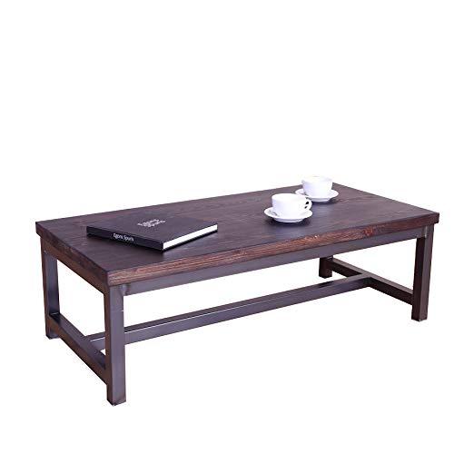 Élégant en acier Style industriel Table basse