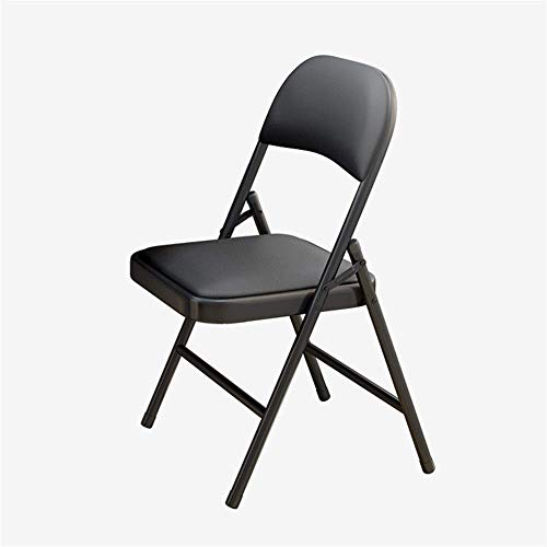 Kortikaler gepolsterter Stoff Klappstühle Starker Klappstuhl aus Stahl, klappbarer Hocker Schreibtischstühle Sitz für Schlafzimmer im Freien und drinnen c2020