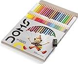 Juego de lápices de colores con núcleo suave para niños y adultos, libros para colorear dibujos, escribir bocetos (24 unidades)