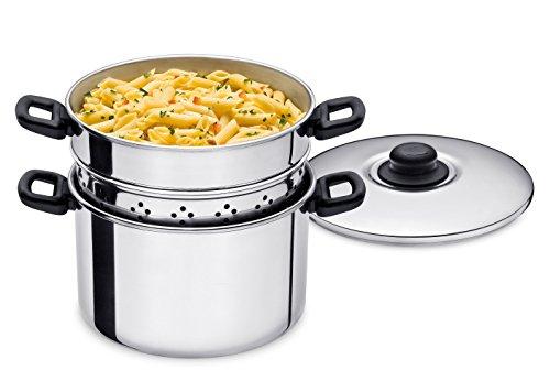 Espagueteira e Cozimento a Vapor 3 Peças 24cm Alumínio ABC