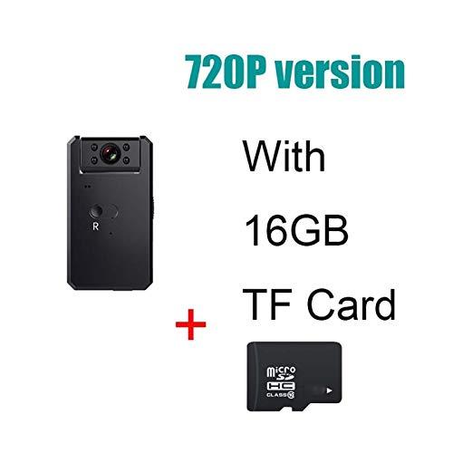 Pequeña mini cámara IP Wifi 4K Full HD 1080P Micro cámara inteligente Home Monitor Mini videocámara Micro IP Cam Polea gran angular (color: 720P 16G)