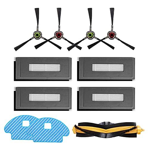 HALIEVE Filter Bürste Wischtuch Ersatzteile Zubehör Set für Ecovacs DG3G-KTA DEEBOT OZMO 930 Staubsauger Roboter (11 Stück)