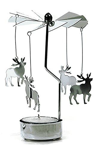 Teelicht Karussell schöne Weihnachts Dekoration Geschenk Weihnachten (Elch)