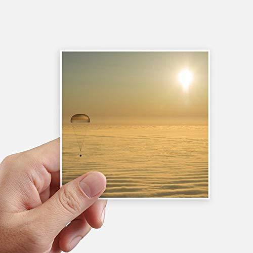 DIYthinker GoldEd Bright Sun Ballon Autocollant carré Cloud Se 10CM Mur Valise pour Ordinateur Portable Motobike Decal 8Pcs 10Cm X 10Cm Multicolor