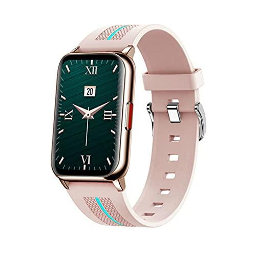 Gulu Smart Watch Women 2021 Monitoreo De Tarifas Cardíacas Smart Muñequeras 1.57 Pulgadas Smartwatches Men Fitness Tracker para Android iOS Watch,Oro