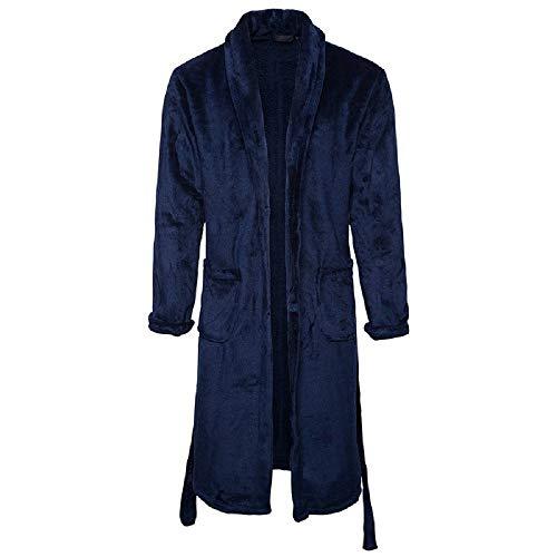 Adelina dikke koraalrode badjas winterbadjas de lange casual robe pyjama's ochtendjas Fashionable Completi