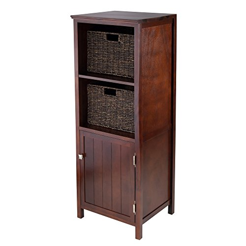 Winsome Wood 3-Piece Brooke Jelly Cupboard with 2-Basket