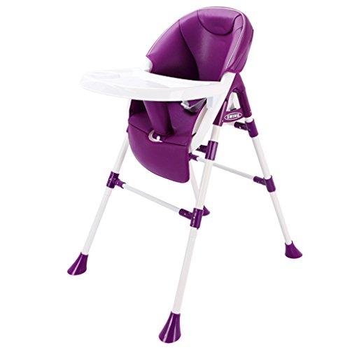Chaise de bébé Siège de bébé Table à Manger Tabouret Chaise de Salle à Manger pour Enfant Chaise multifonctionnelle Portable télescopique (Color : Purple, Size : 51cm*78cm*96cm)