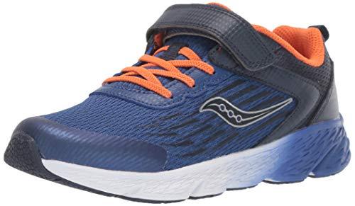 Saucony Wind Alternative Closure Running Shoe, Navy, 2.5 US Unisex Big Kid