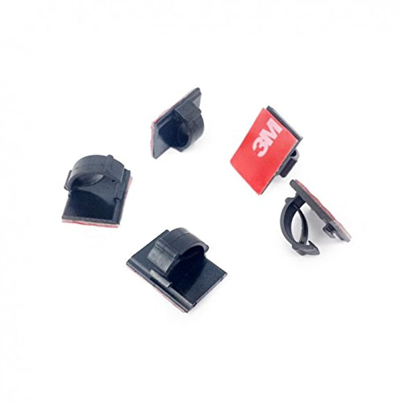 3M CORDCLIPS 5 Black (Dark 3M VHB) Cord Clips to Secure Wires from Your DASHCAM or Other Devices