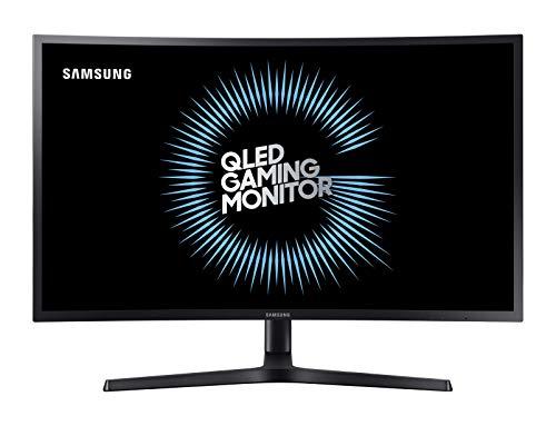 SAMSUNG C27HG70, Ecran PC Gaming Incurvé , Dalle VA 27 ', Résolution WQHD (2560 x 1440), 144 Hz, 1ms, HDR 600, Qled, AMD Freesync, Noir