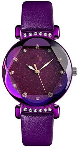 CMXUHUI Chica Reloj Regalo de cumpleaños Regalo del día de Reloj de Pulsera Moda Mujeres Relojes Cuarzo Ladies Reloj Correa de Acero Inoxidable Relojes Impermeables 23 cm