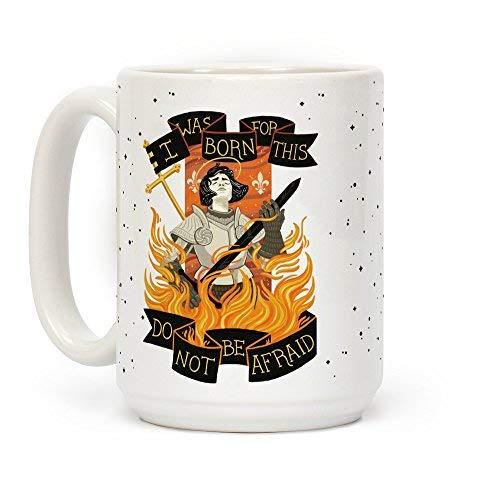 Saint Joan van ARC keramische koffie thee mok witte mok 11 ounces