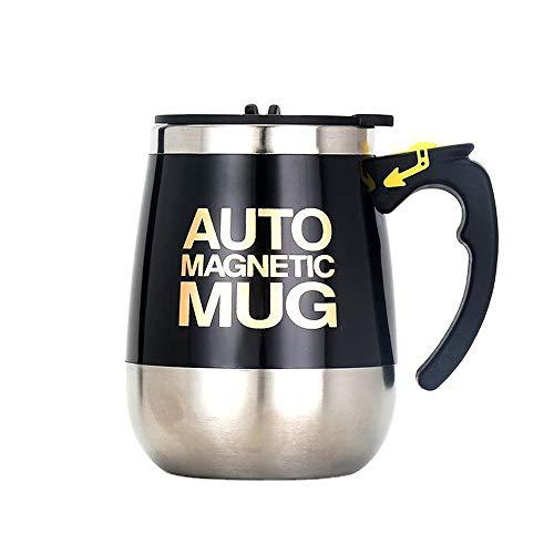 JIN GUI Wiederaufladbare 400 ml selbstrührende Kaffeetasse, automatische Mischbecher-Magnetisierungsvorrichtung, auslaufsicher Optimieren Sie die Wasserqualität, um Teemilch zu rühren