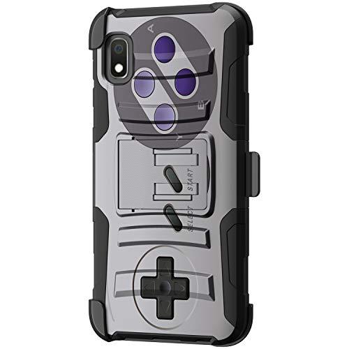 TurtleArmor | Compatible with Samsung Galaxy A10e Case | Galaxy A20e Case [Hyper Shock] Hybrid Dual Layer Armor Holster Belt Clip Case Kickstand - Classic Game Controller