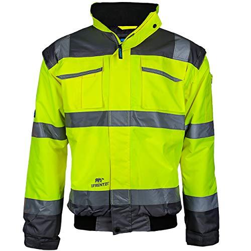 PPRO FIT Warnschutz Pilotenjacke neongelb/grau, abnehmbare Ärmel, Gr. M